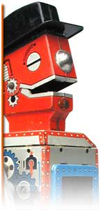 mego robot tin toy collectible